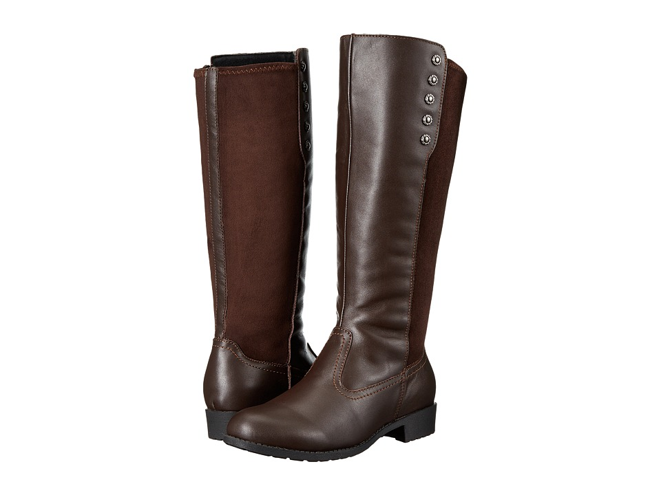 Propet Charlotte (Wide Calf) (Bronco Brown Suede) Women