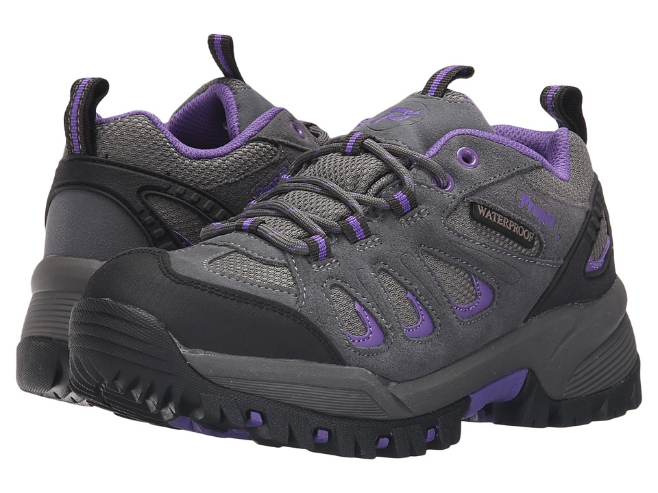 Propet - Ridge Walker Low (Grey Purple) Womens Lace up casual Shoes