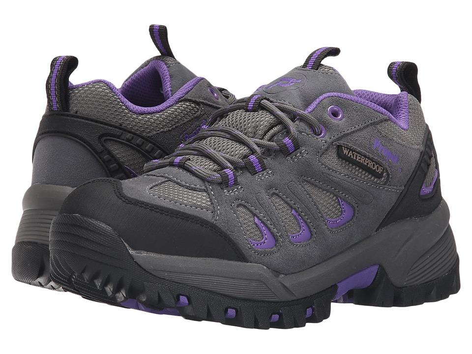 Propet - Ridge Walker Low (Grey Purple) Womens Lace up casual Shoes
