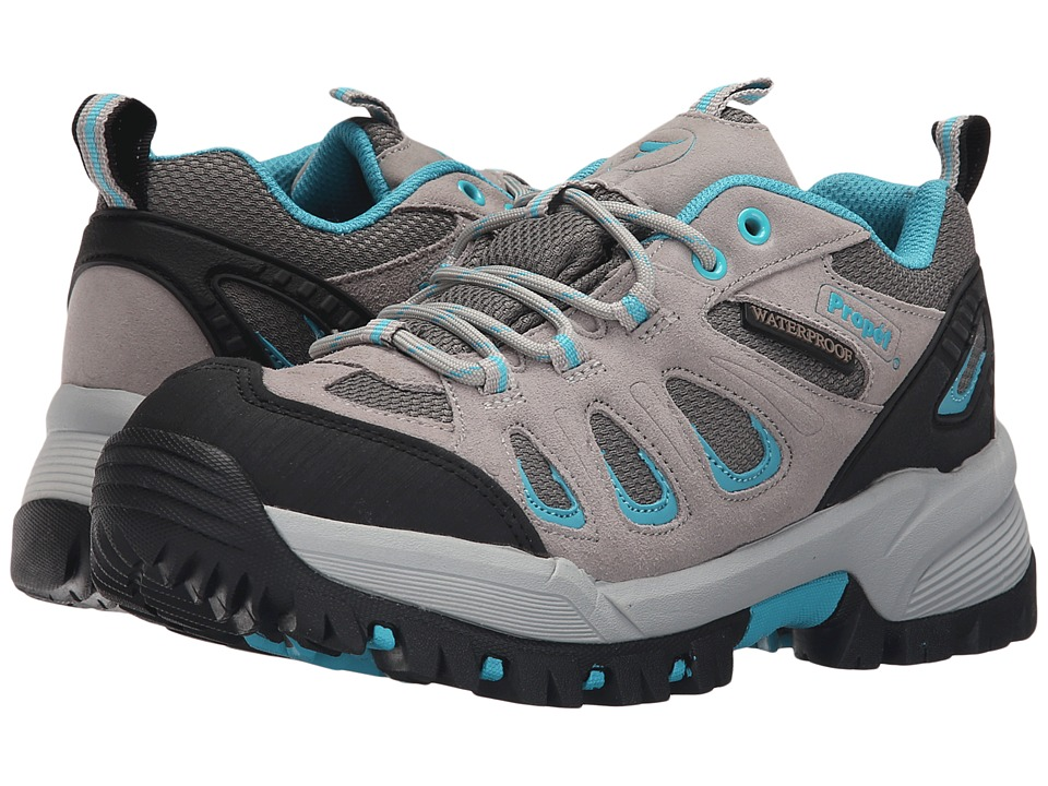 Propet Ridge Walker Low (Light Grey Turquoise) Women