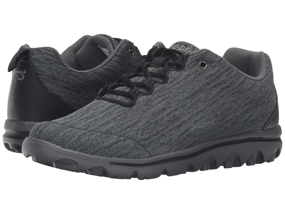 Propet TravelActiv (Black/Grey Heather) Women