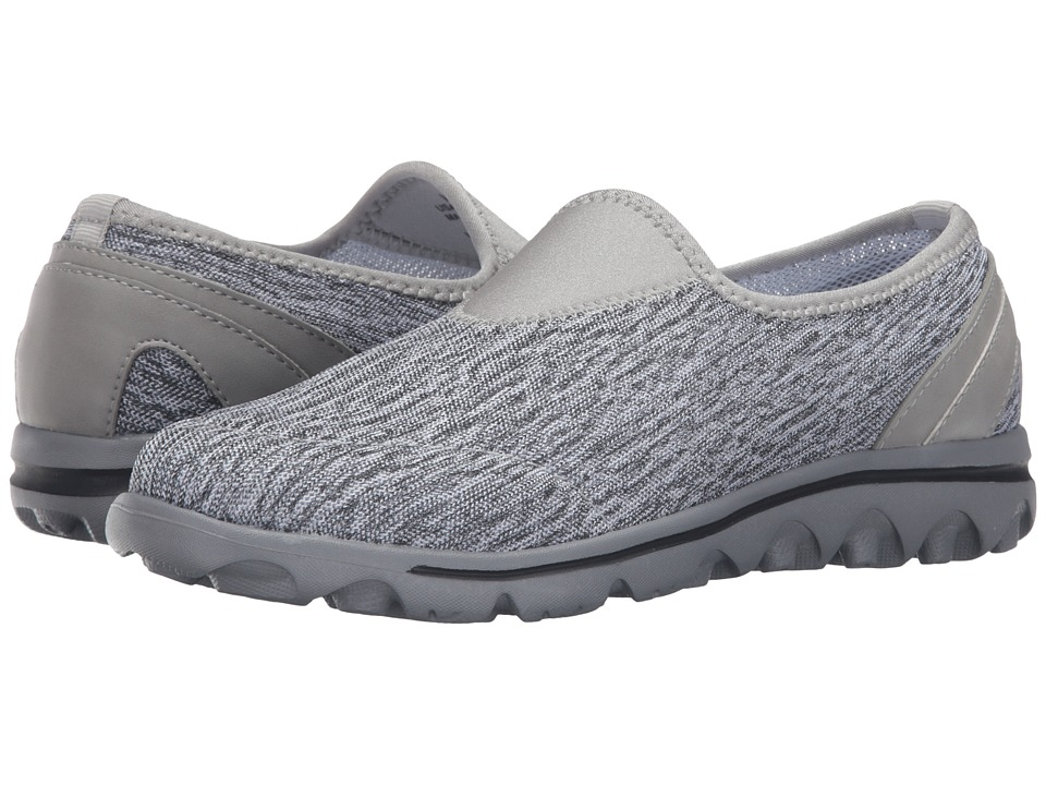 Propet TravelActiv Slip-On (Black/White Heather) Women
