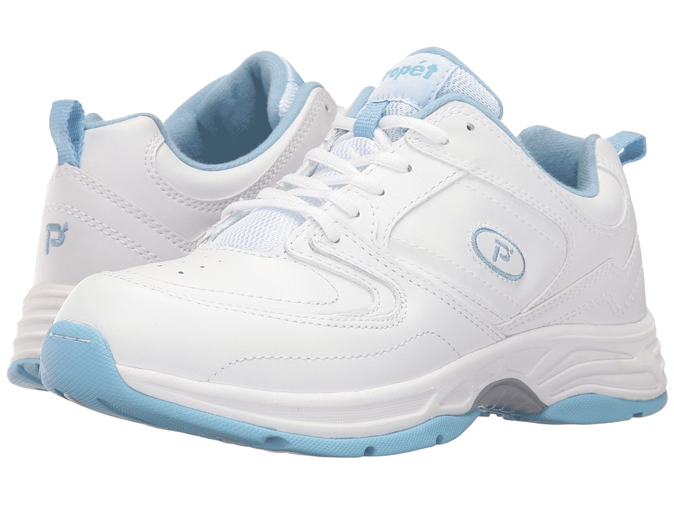 Propet Eden (White/Powder Blue) Women