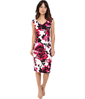 Maggy London - Print Blossom Sheath Texture Dress