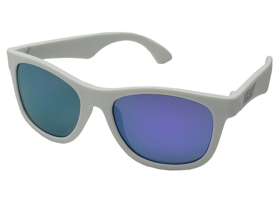 Babiators Aces Navgators Fueled by Wicked with Purple Lenses 7 14 Years White Athletic Performance Sport Sunglasses