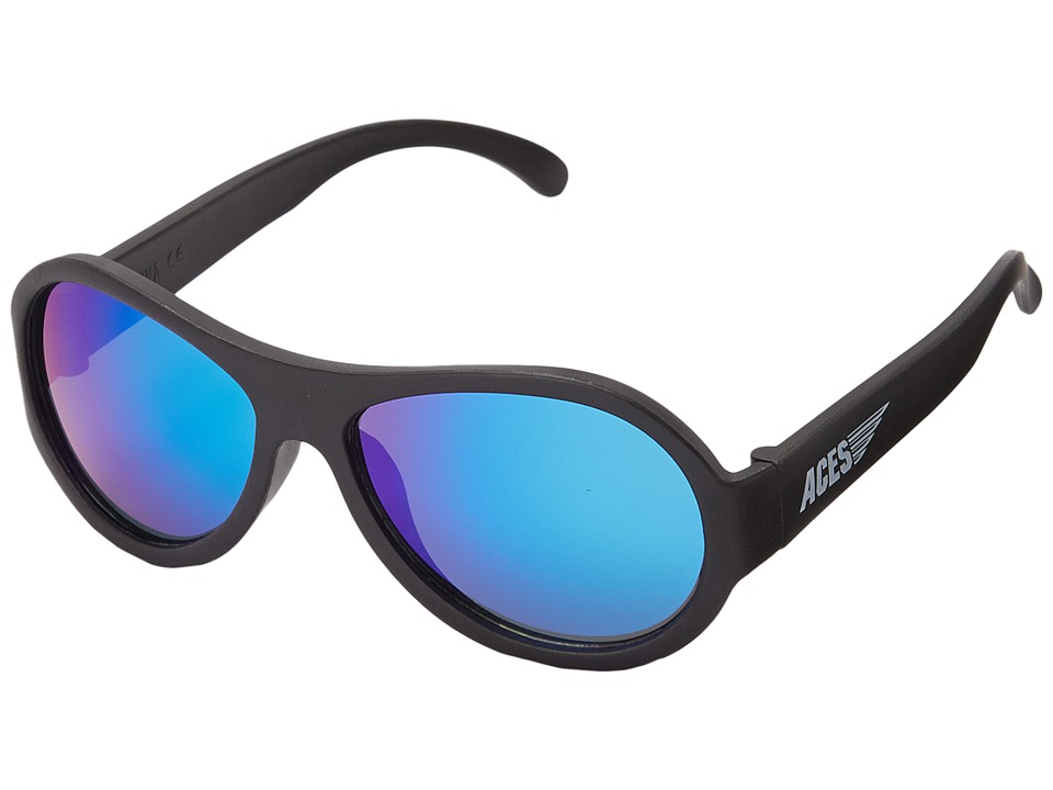 Babiators Aces Aviators Fueled by Ops with Blue Lenses 7 14 Years Black Athletic Performance Sport Sunglasses