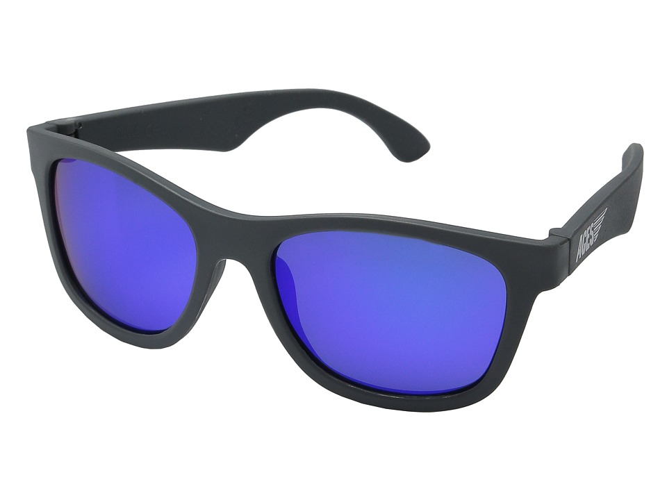 Babiators - Aces Navgators Fueled by Galactic with Blue Lenses (7-14 Years) (Gray) Athletic Performance Sport Sunglasses