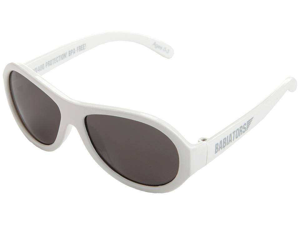 Babiators - Original Wicked Junior Sunglasses (0-3 Years) (White) Athletic Performance Sport Sunglasses