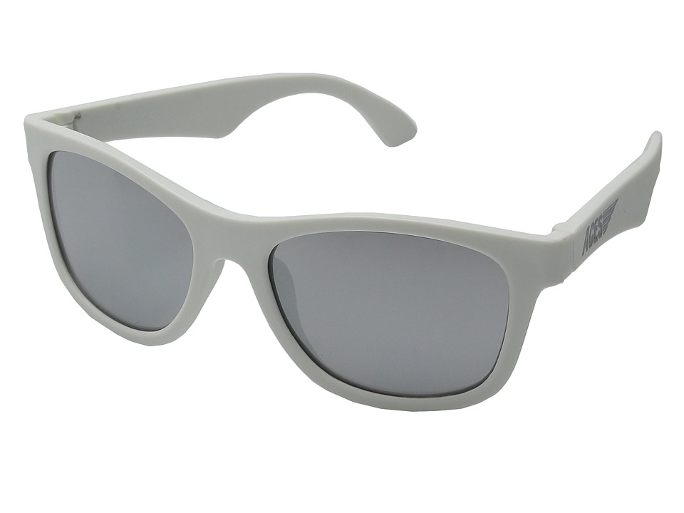 Babiators Aces Navgators Fueled by Wicked with Mirrored Lenses 7 14 Years White Athletic Performance Sport Sunglasses