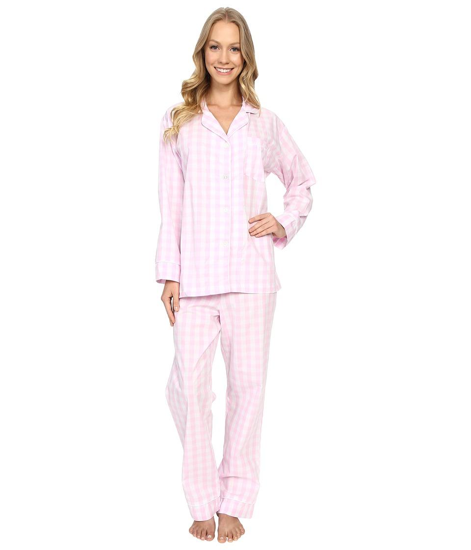 BedHead Classic Cotton Sateen PJ Set Pink Gingham Womens Pajama Sets
