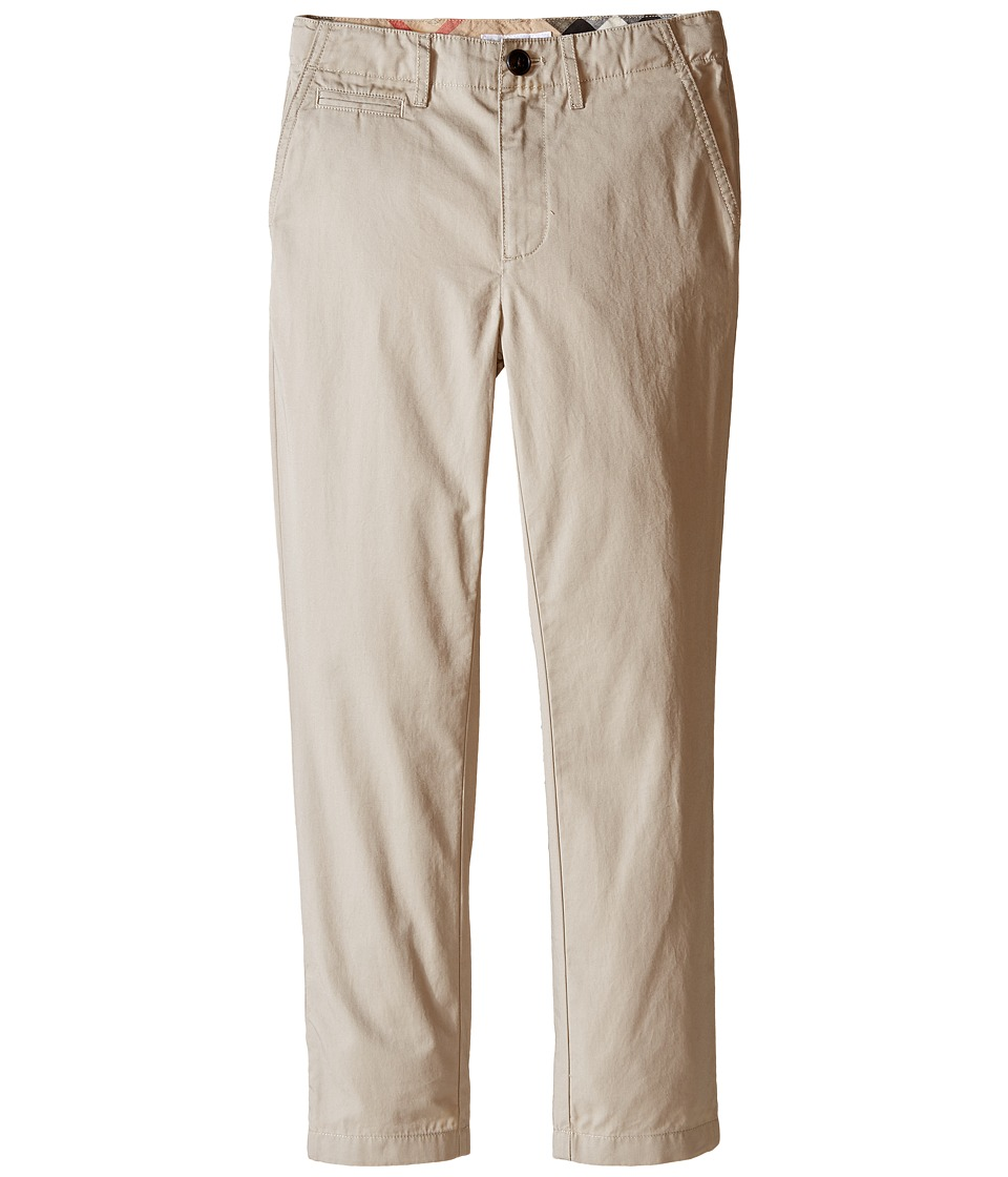 Burberry Kids - Teo Casual Trousers (Little Kids/Big Kids) (Taupe) Boys Casual Pants