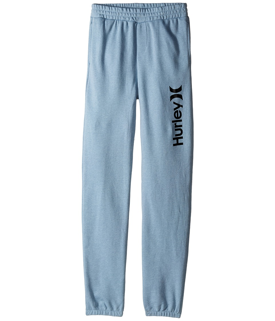 Hurley Kids One Only French Jogger Pants Big Kids Blue/Gray Heather Boys Casual Pants