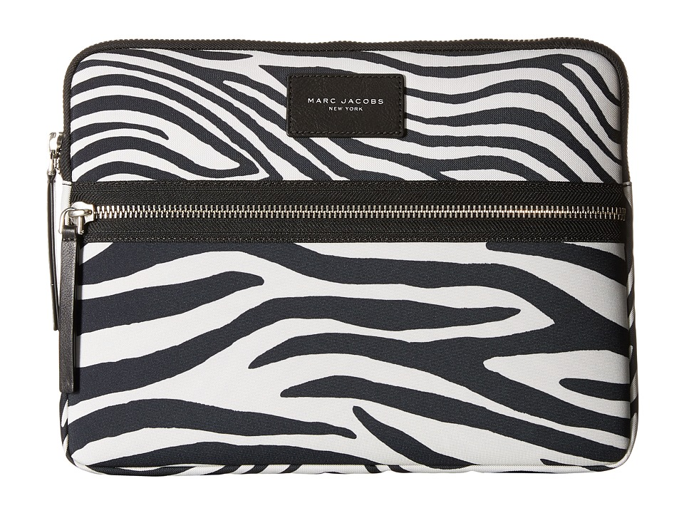 Marc Jacobs - Zebra Printed Biker Tech 13 Computer Case (Off-White Multi) Computer Bags