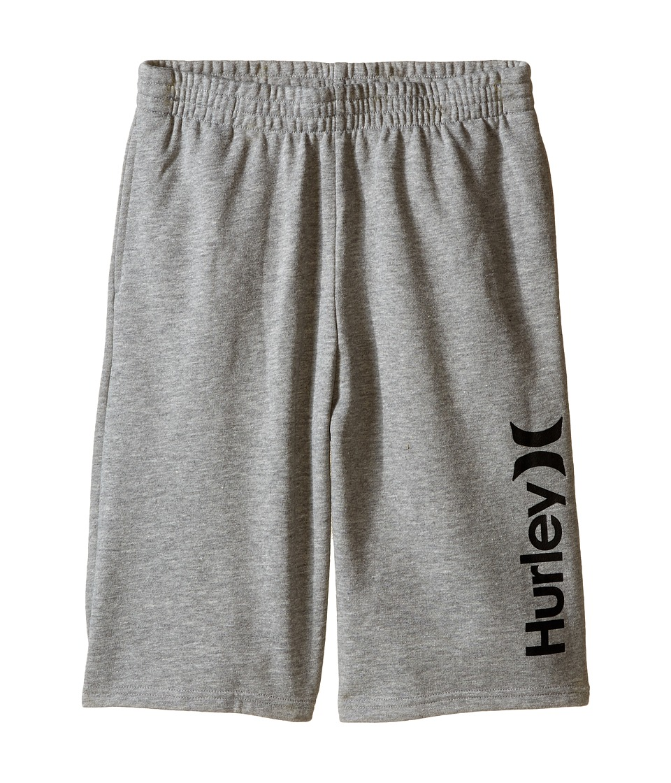 Hurley Kids One Only French Shorts Big Kids Dark Grey Heather Boys Shorts