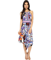 London Times - Pop Art Floral Halter Dress