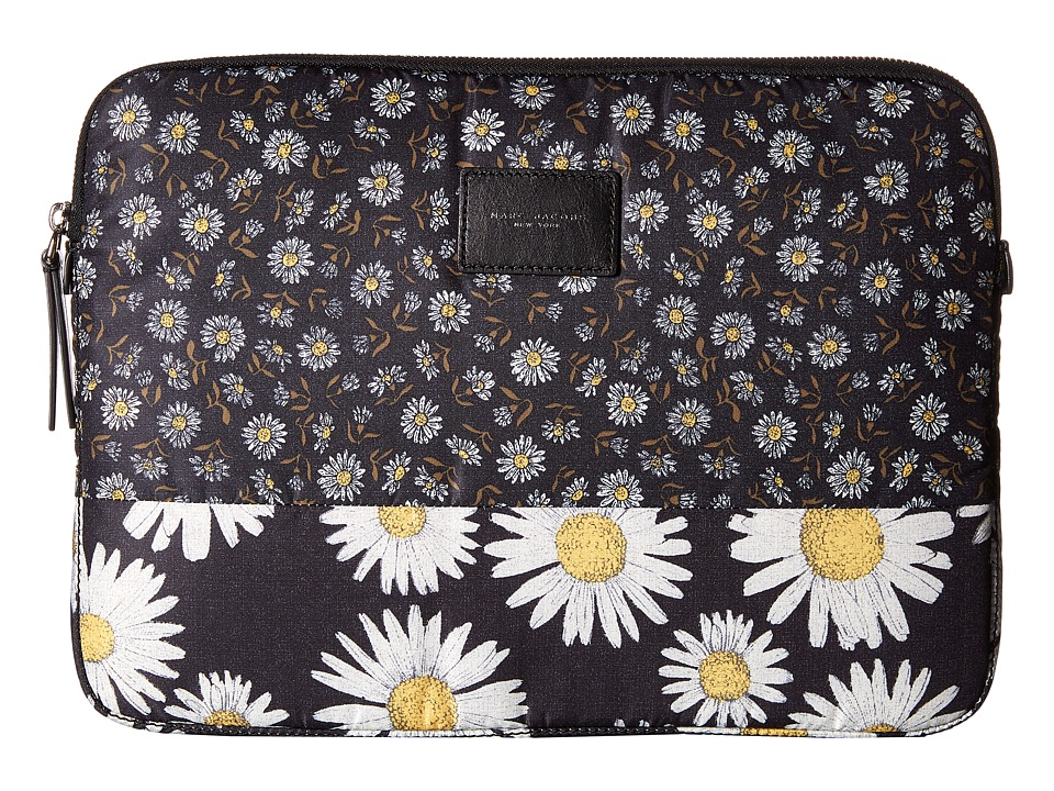 Marc Jacobs - Byot Mixed Daisy Flower Tech 13 Computer Case (Black Multi) Computer Bags