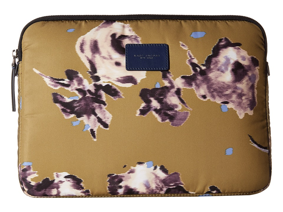 Marc Jacobs - Byot Brocade Floral Tech 13 Computer Case (Chartreuse Multi) Computer Bags