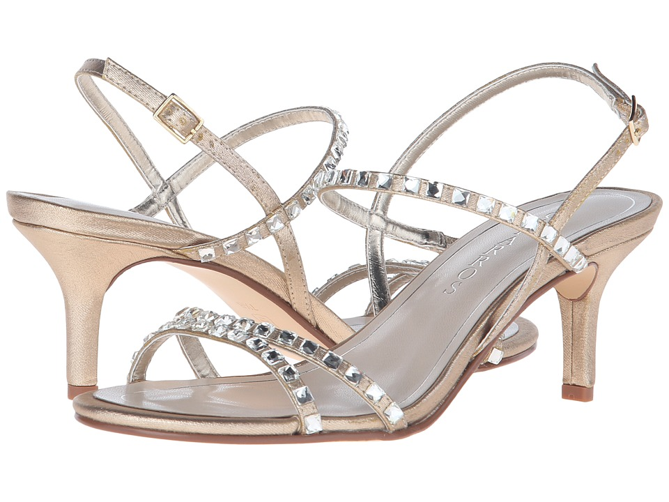 Caparros Christine Gold Metallic Fabric Womens Sandals