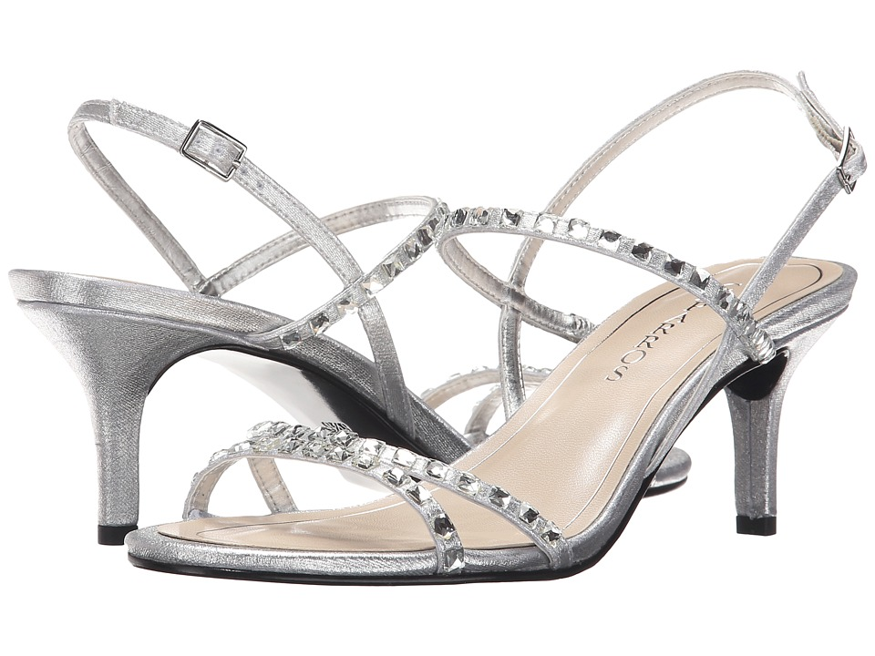 Caparros Christine Silver Metallic Fabric Womens Sandals