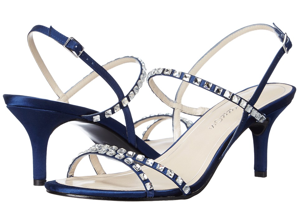 Caparros Christine Navy New Satin Womens Sandals