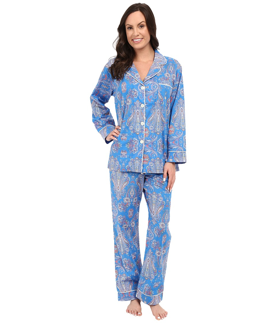 BedHead Classic Pajamas Voile Paisley Park Blue Womens Pajama Sets