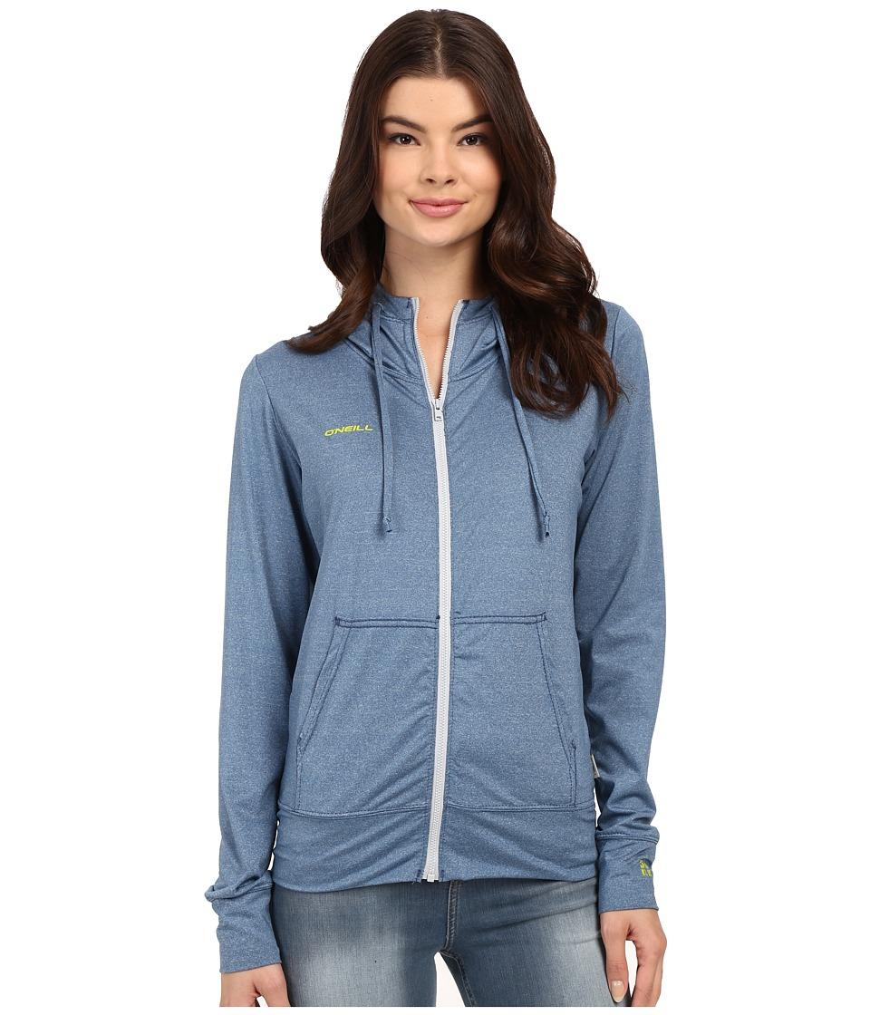 ONeill 24 7 Hybrid Zip Hoodie Deep Teal Womens Sweatshirt