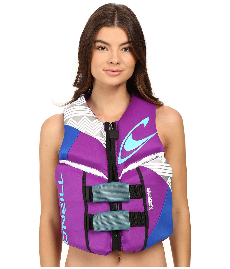 O'Neill Reactor USCG Vest (UV/Pacific/White) Women's Swim...