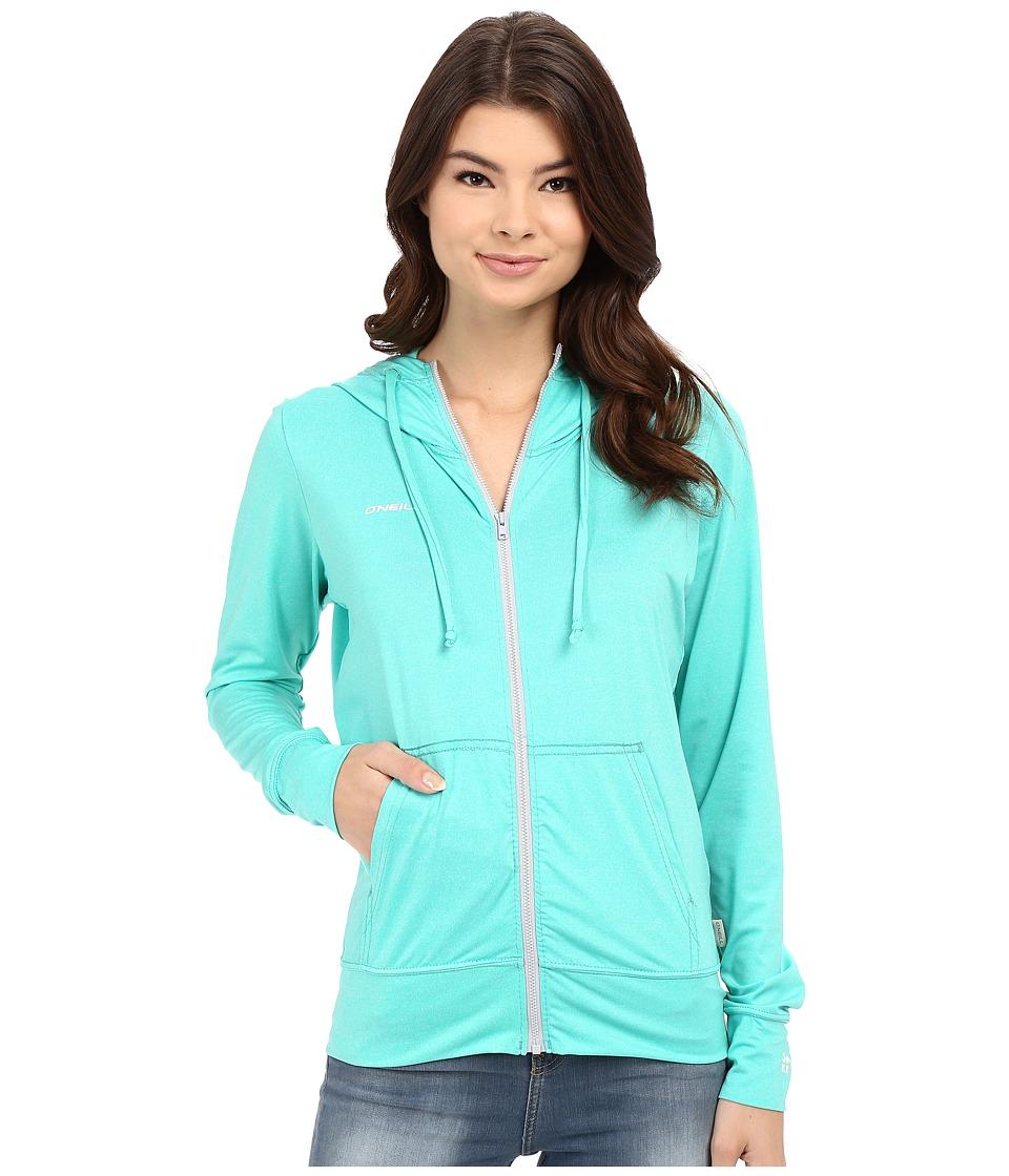 ONeill 24 7 Hybrid Zip Hoodie Seaglass Womens Sweatshirt