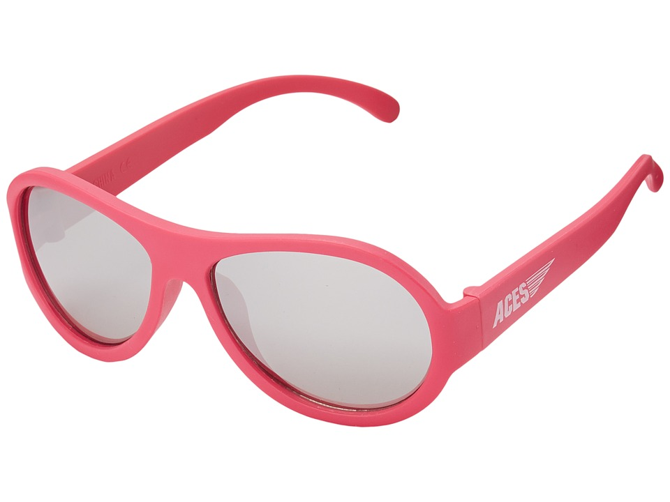 Babiators Aces Aviators Fueled by Popstar with Mirrored Lenses 7 14 Years Pink Athletic Performance Sport Sunglasses