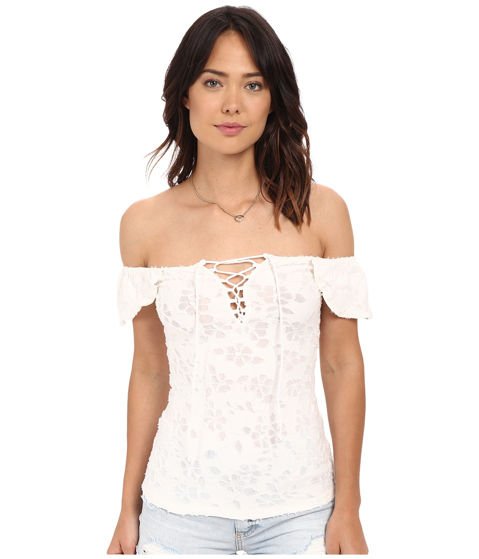 Free People Popsicle Off the Shoulder Top Ivory Womens Blouse