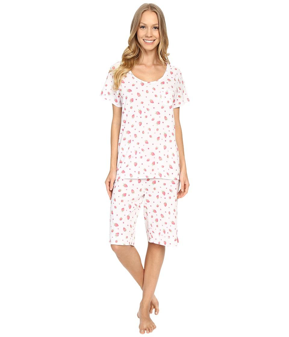 Carole Hochman Key Item Bermuda Pajama Strawberries Womens Pajama Sets