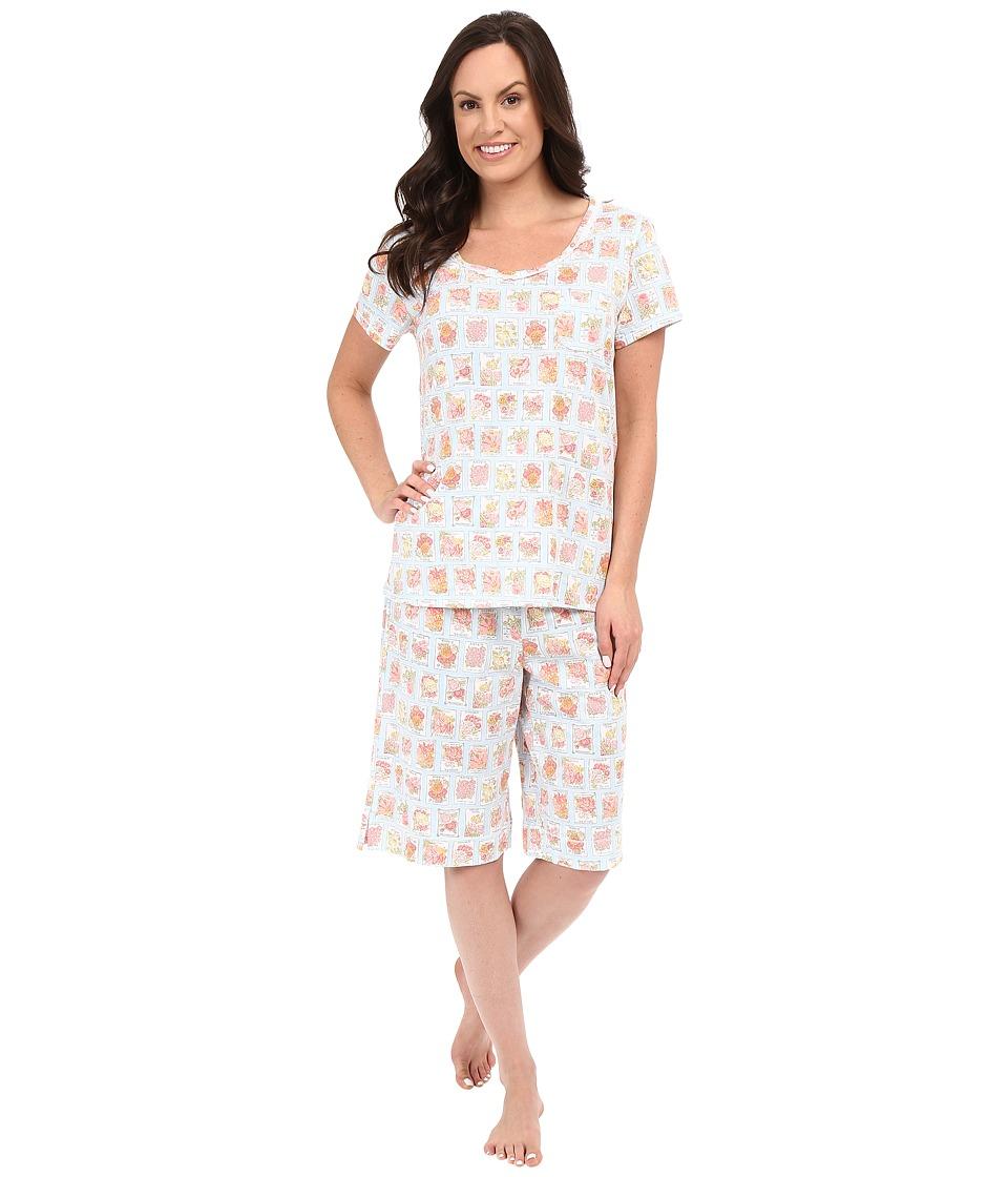Carole Hochman Key Item Bermuda Pajama Seeds Womens Pajama Sets