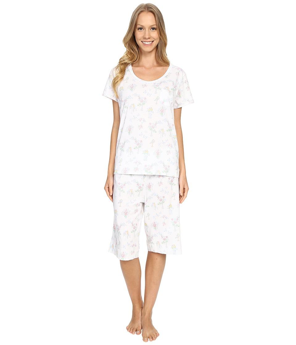Carole Hochman Key Item Bermuda Pajama Birds Womens Pajama Sets