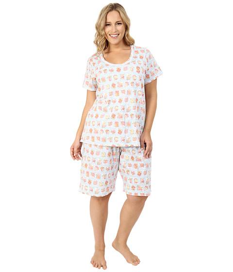 Carole Hochman Plus Size Key Item Bermuda Pajama