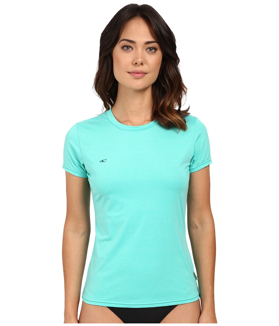 ONeill 24 7 Hybrid Short Sleeve Tee Seaglass Womens Swimwear
