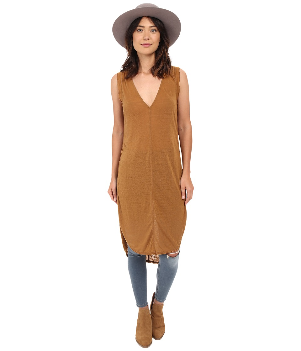Free People Daydreamer Tunic Brown Womens Sleeveless