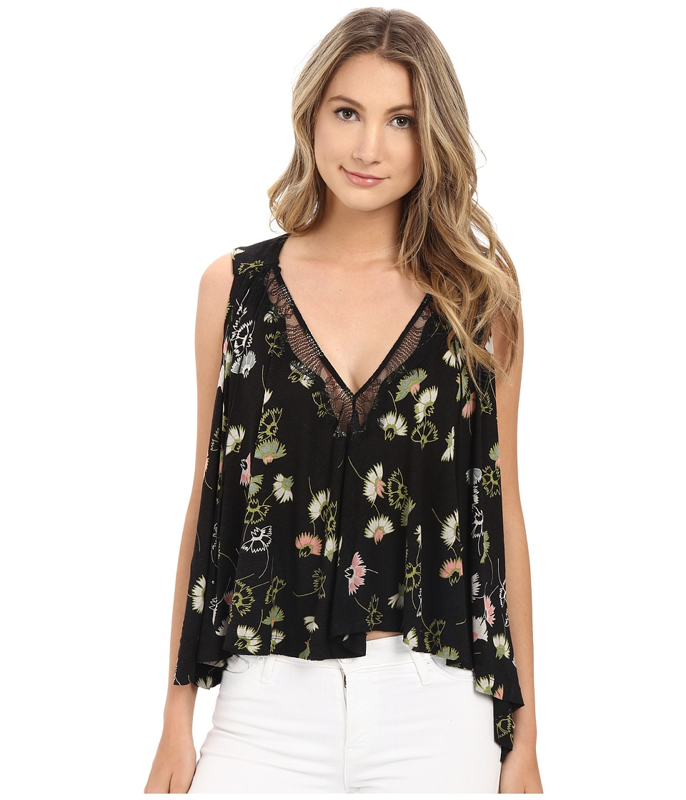 Free People Love Potion Top Black Combo Womens Clothing
