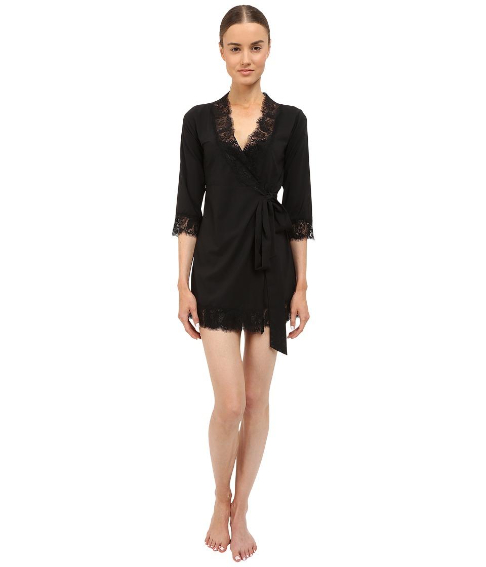 LAgent by Agent Provocateur - Jada Short Gown (Black) Womens Lingerie