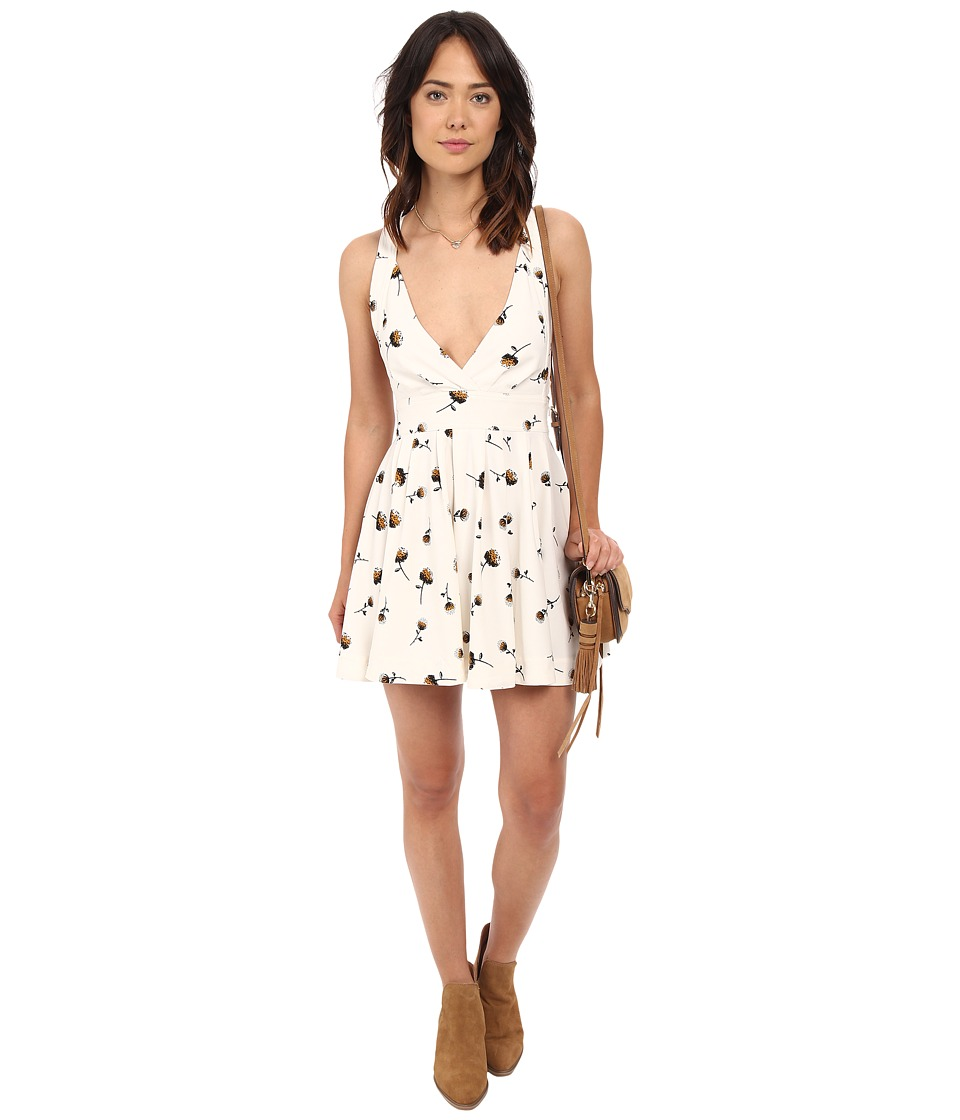 Free People Minis For You Printed Mini Dress Ivory Womens Dress