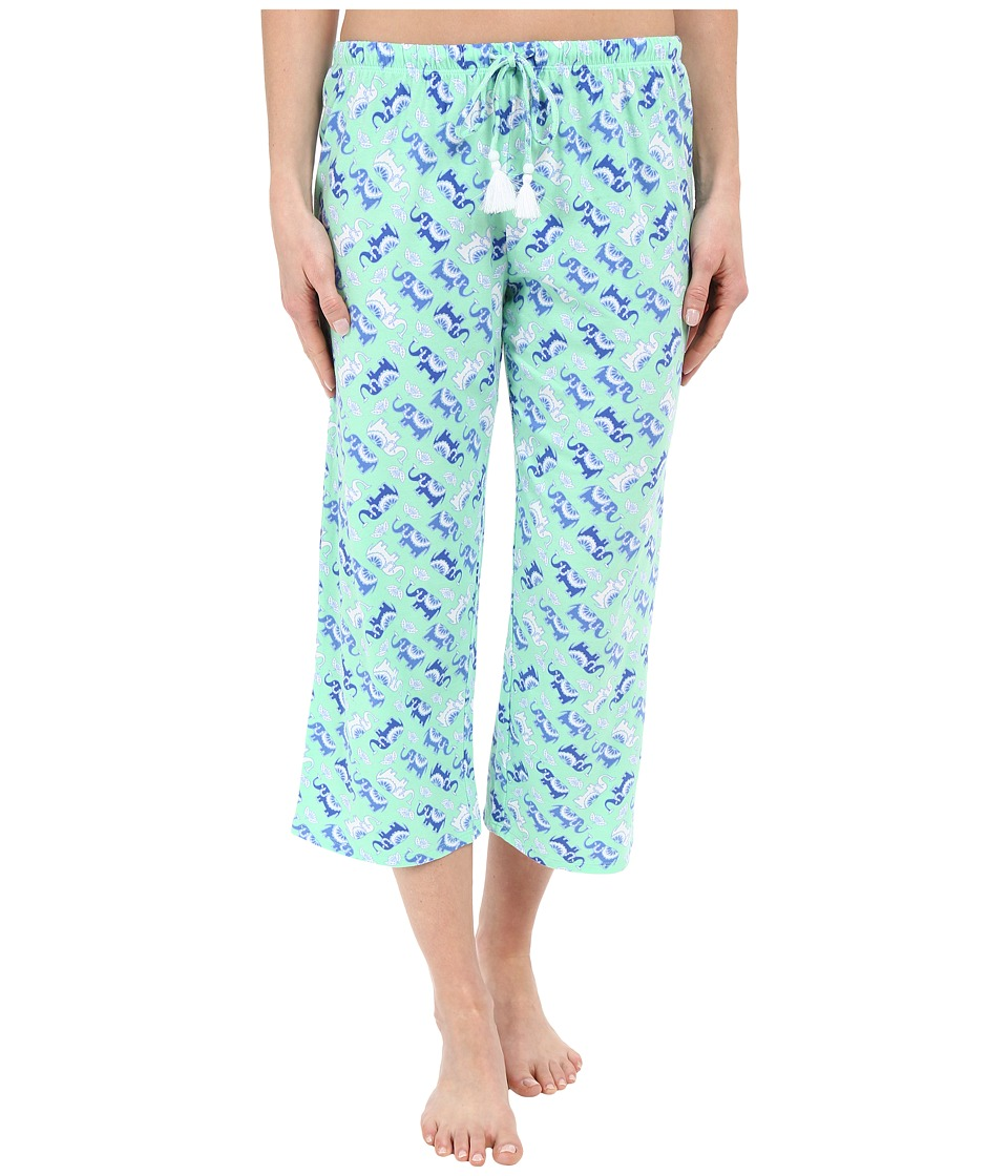 Jockey Capri Pants Elephants Womens Pajama