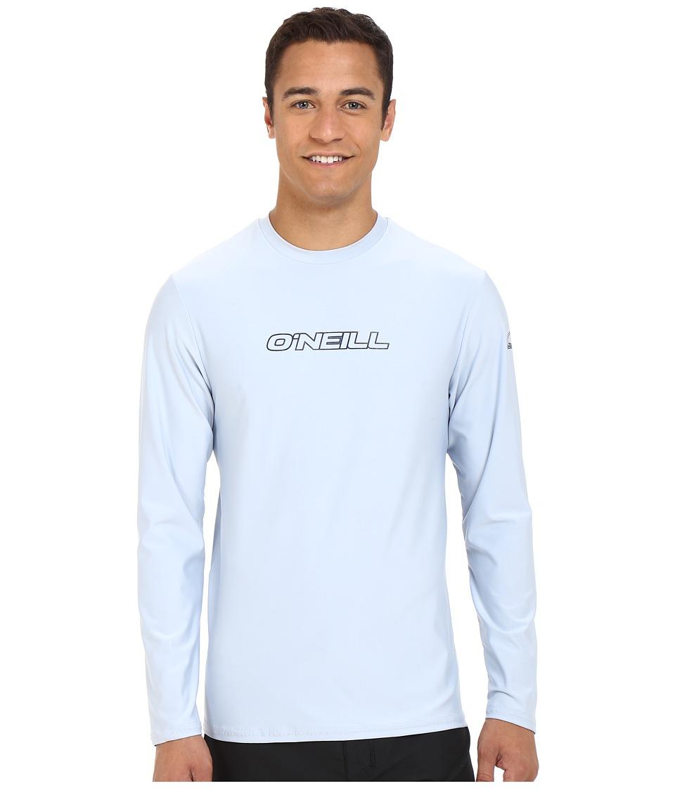 ONeill Basic Skins L/S Rash Tee Fog Blue Mens Swimwear