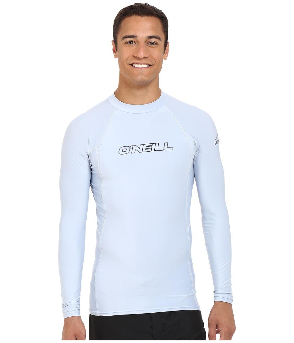 ONeill Basic Skins L/S Crew Fog Blue Mens Swimwear