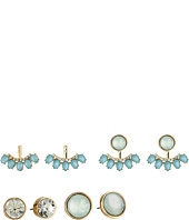 GUESS - Stud and Stone Stud Earrings Jacket Duo Ear Set