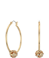 GUESS - Hoop with Stone Ball on Hoop Earrings