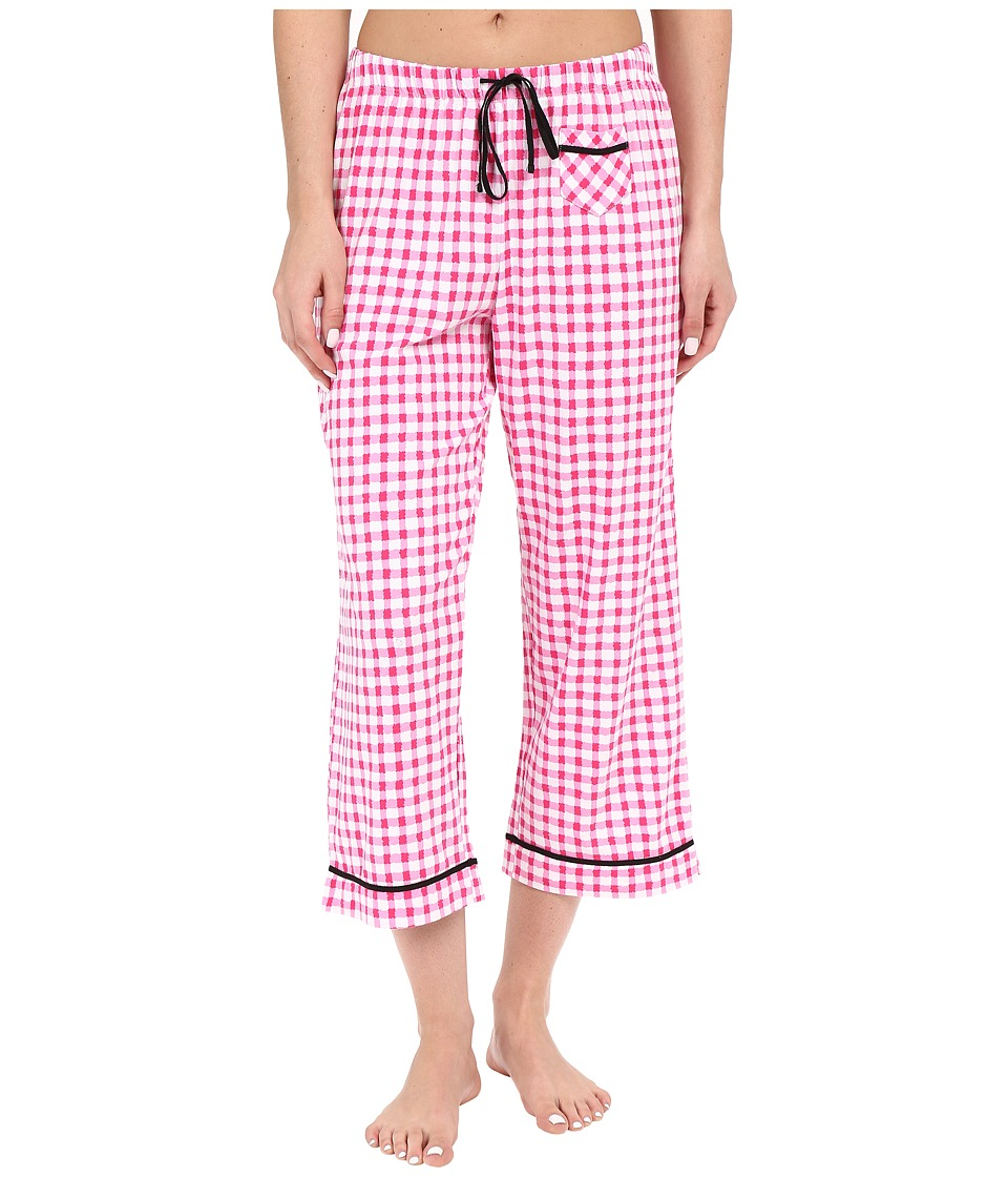Jockey Capri Pants Gingham Plaid Womens Pajama
