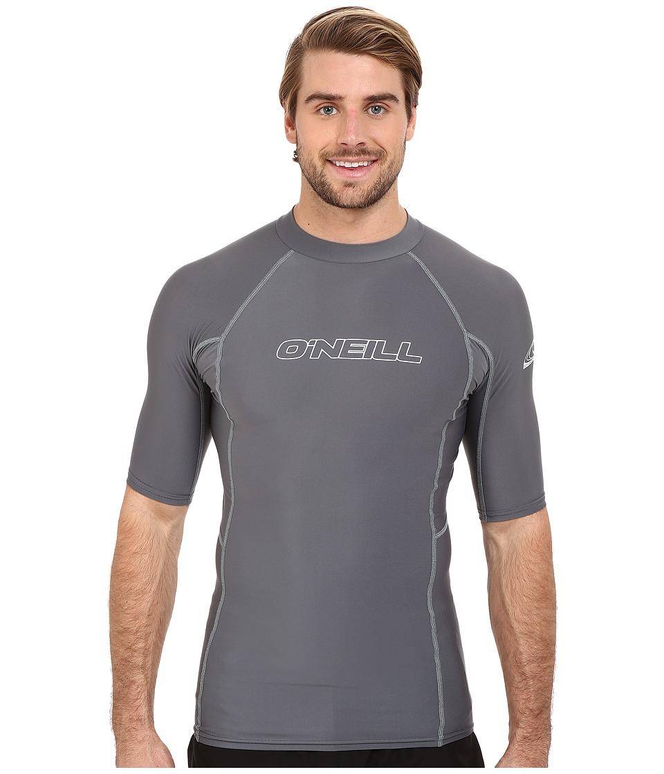 ONeill Basic Skins S/S Crew Smoke Mens Swimwear