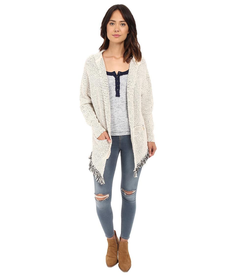 Free People Love Me Tender Cardi Cream Combo Womens Sweater