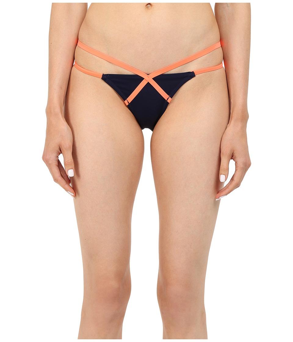 LAgent by Agent Provocateur Eleena Bikini Bottom Navy/Neon Melon Womens Swimwear