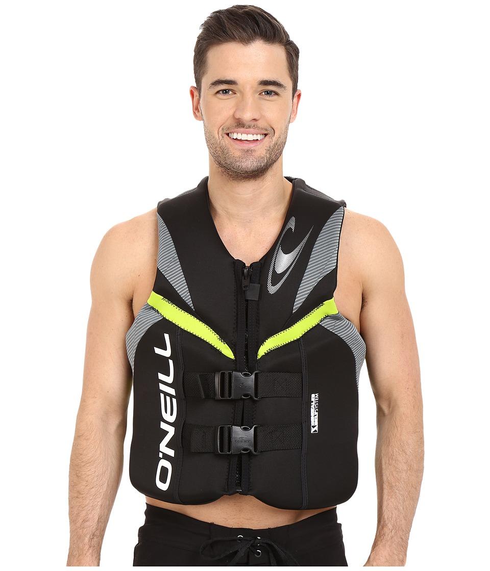 O'Neill Reactor USCG Vest (Black/Lunar/Day Glow) Men's Swimwear