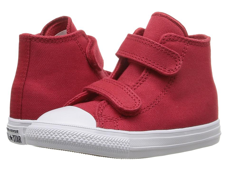 Converse Kids - Chuck II Hi 2V (Infant/Toddler) (Salsa Red/White/Navy) Kid